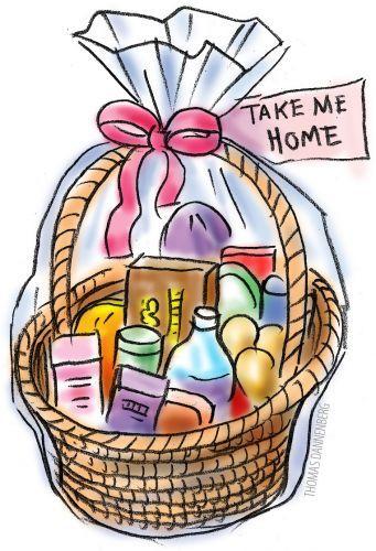 Gift basket t basket clipart free images