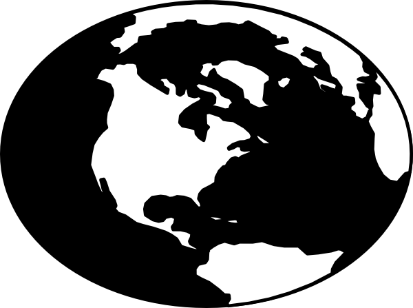 Globe  black and white globe clipart black and white 2