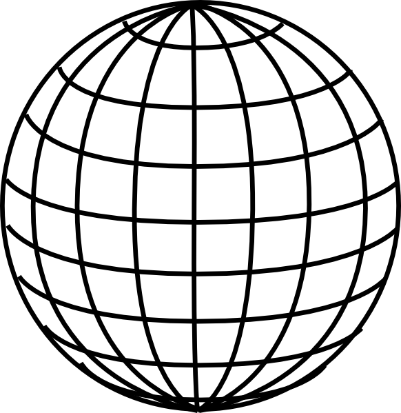 Globe  black and white globe clipart