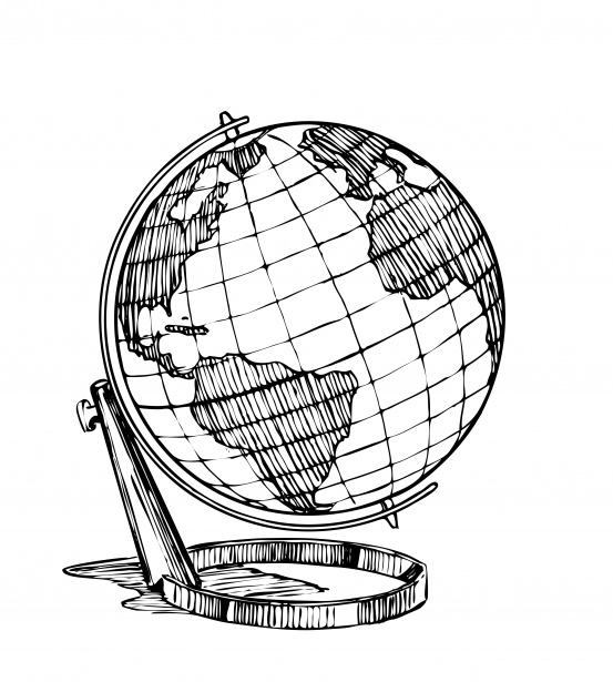 Globe  black and white globe earth clipart black and white free images 2 wikiclipart