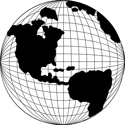 Globe  black and white transparent world globe clipart