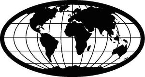 Globe  black and white world globe clipart black and white clipartfox 3