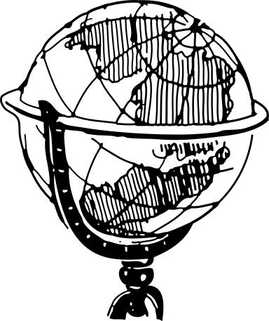 Globe  black and white world globe clipart black white clipartfest 3