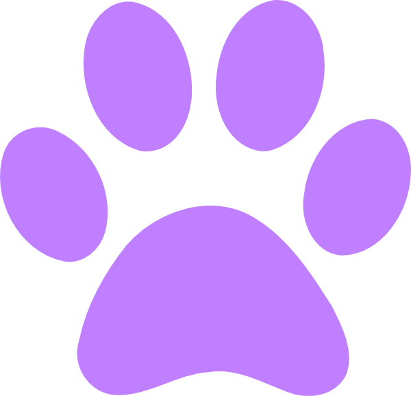 Green bear paw clip art light purple print zbzb