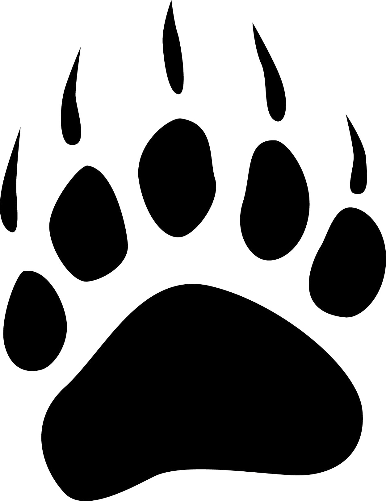 Grizzly bear paw print clipart free images 2