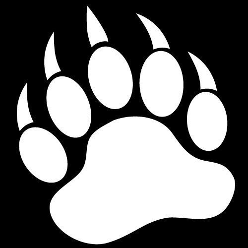 Grizzly bear paw print clipart free images 4