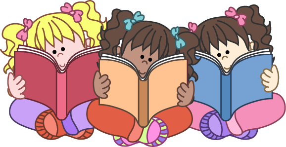 Group of students reading clipart clipartfest