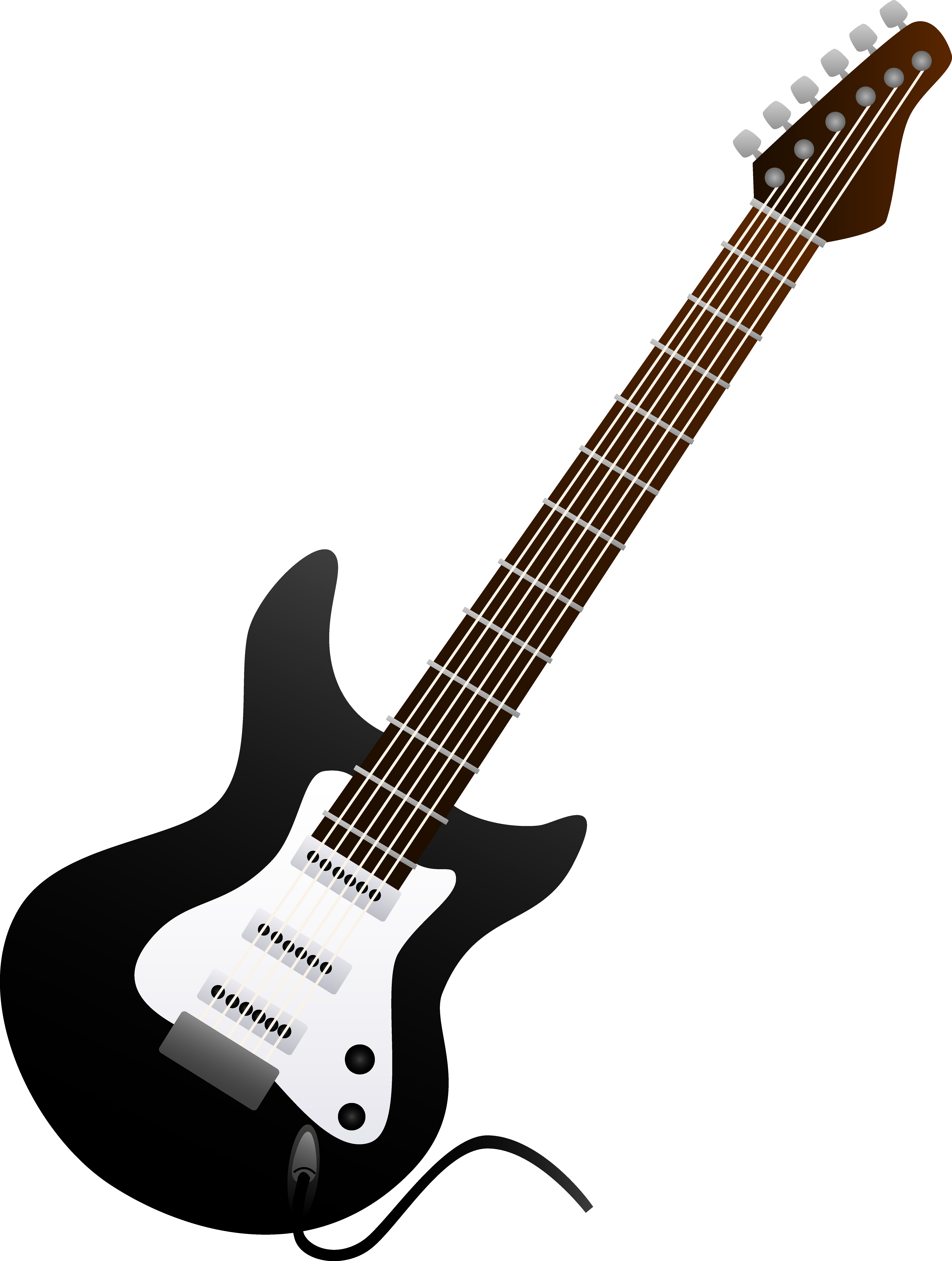 Guitar  black and white bass guitar clipart black and white free