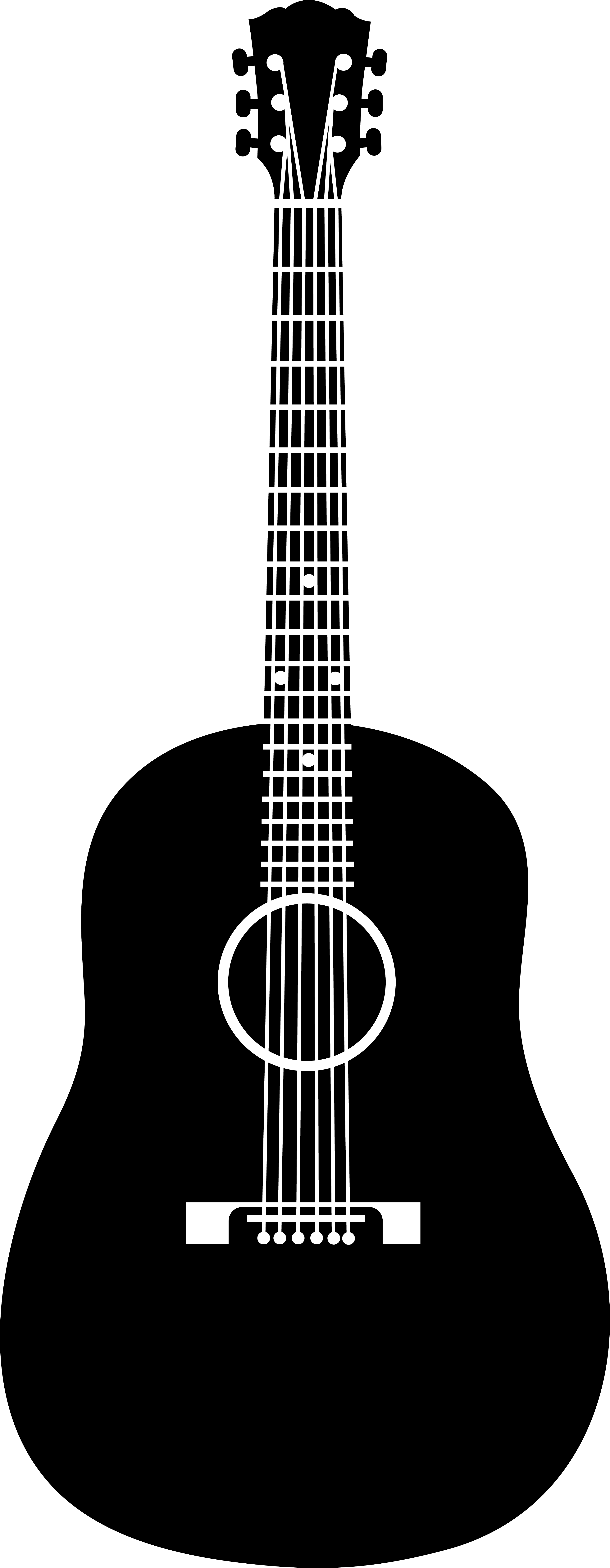 Guitar  black and white black and white acoustic guitar clipart clipartfest 2