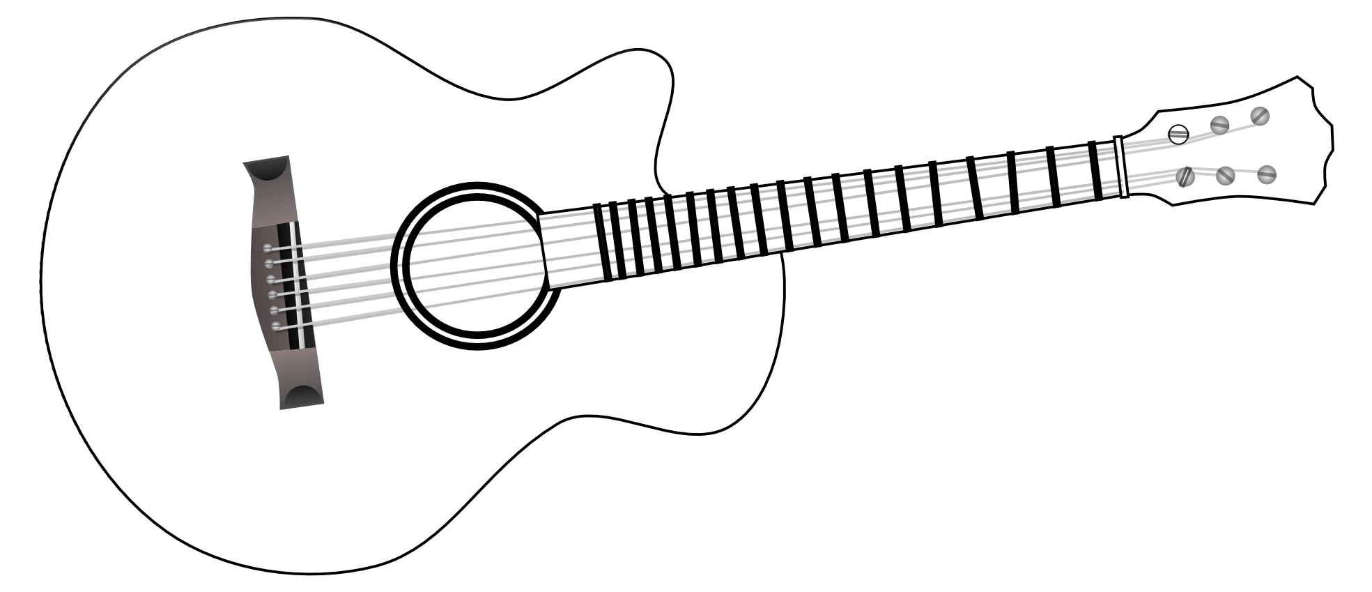 Guitar  black and white black and white acoustic guitar clipart clipartfest