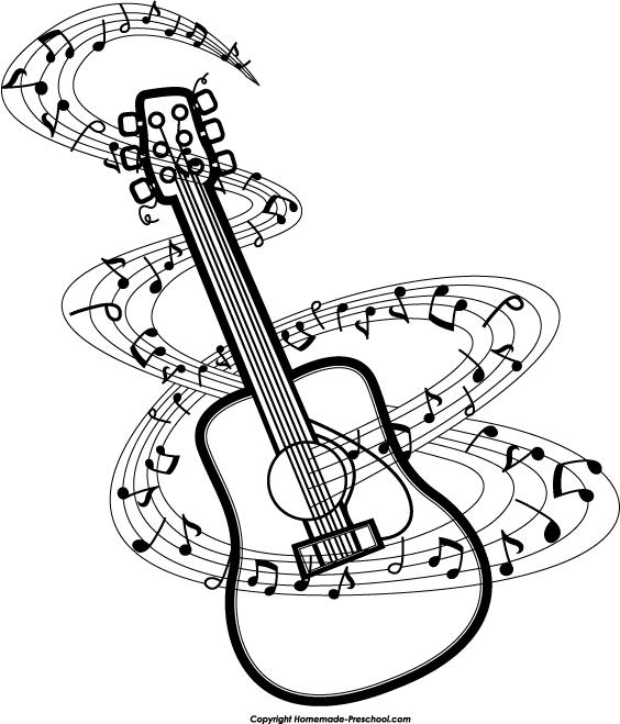 Guitar  black and white black and white guitar clip art