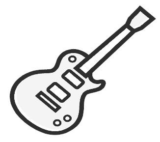 Guitar  black and white black and white guitar clipart clipartwiz 2