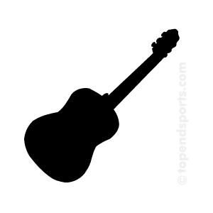 Guitar  black and white black guitar clipart clipartfest