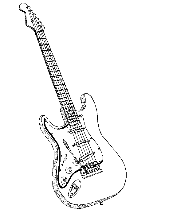Guitar  black and white electric guitar clipart black and white clipartfest 2