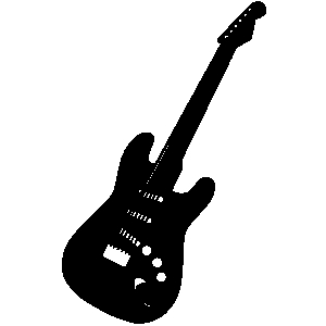 Guitar  black and white electric guitar clipart black and white free 4