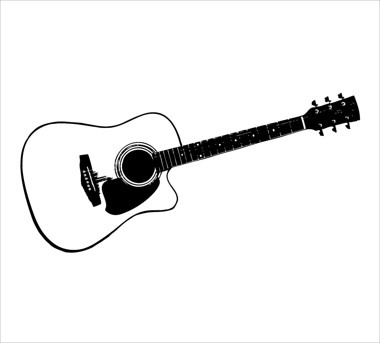 Guitar  black and white guitar black and white clipart 2