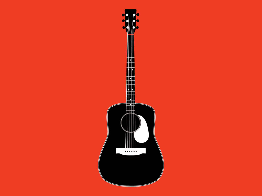 Guitar  black and white guitar black and white clipart 7