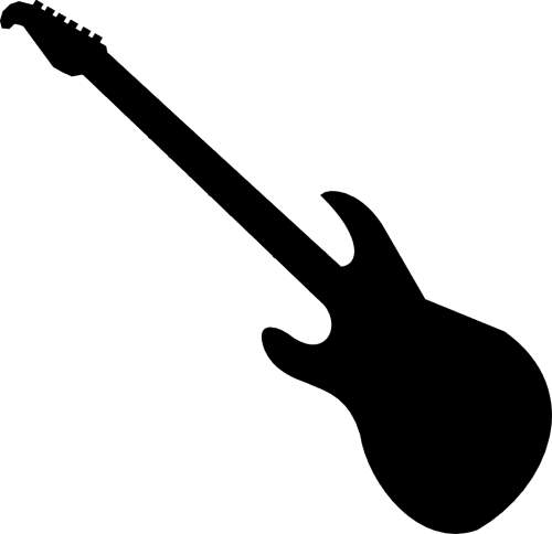 Guitar  black and white guitar black and white clipart