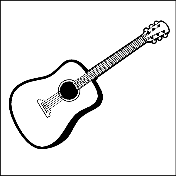Guitar  black and white guitar clip art black and white clipartfest
