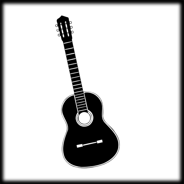 Guitar  black and white guitar clip art hostted