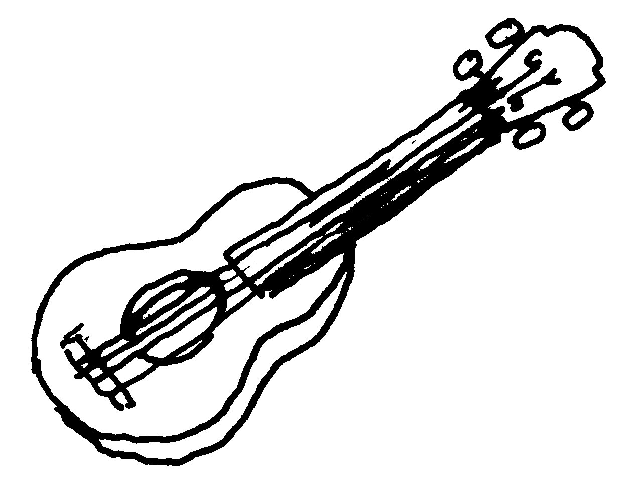 Guitar Black And White Clip Art Images