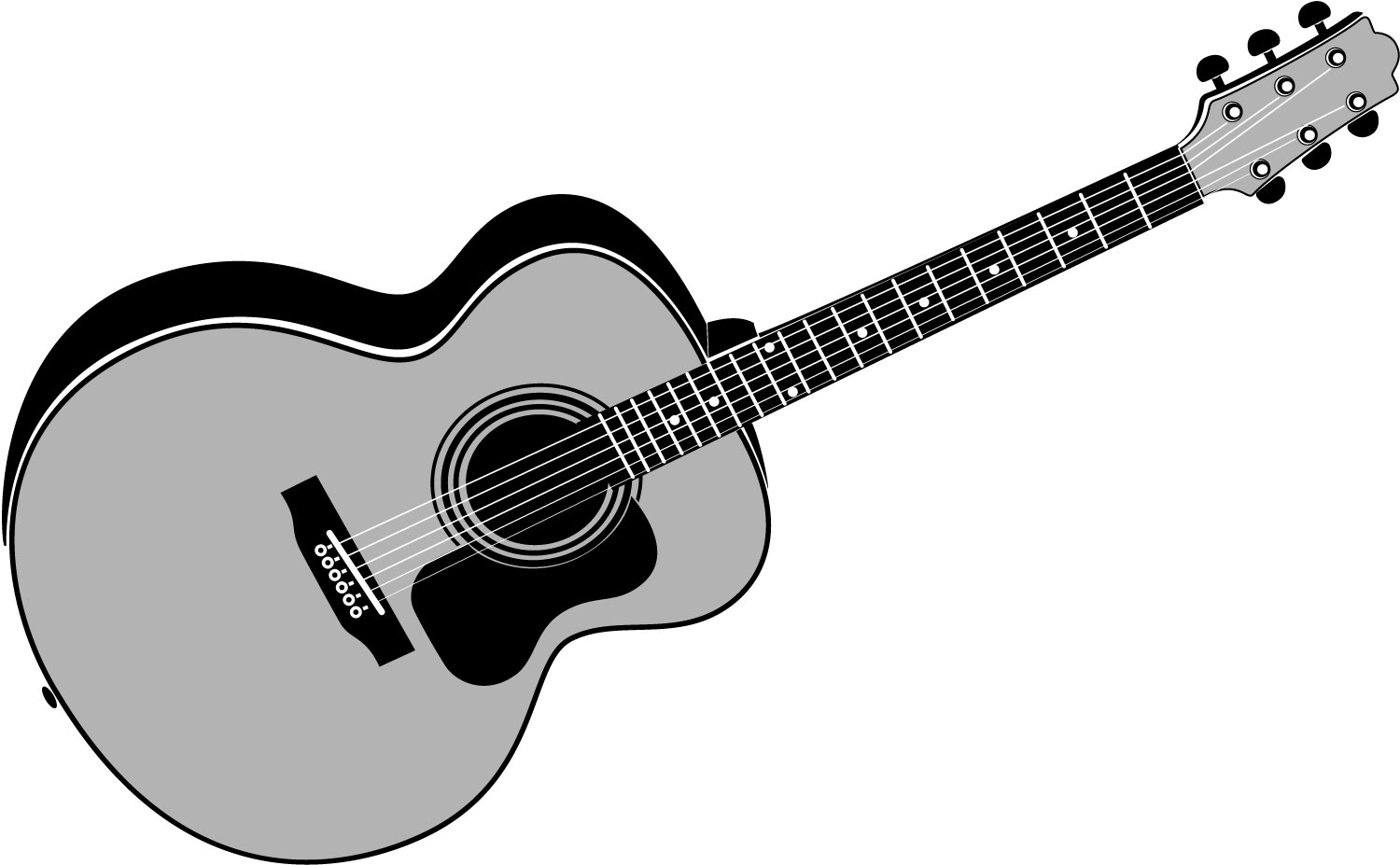 Guitar  black and white guitar clipart black and white clipart 4