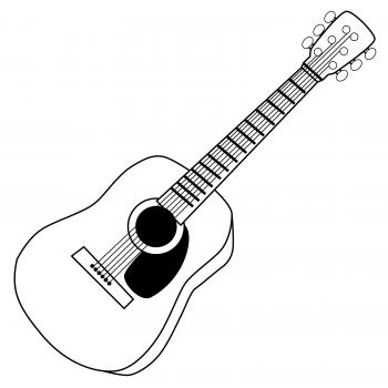 Guitar  black and white guitar clipart black and white clipart