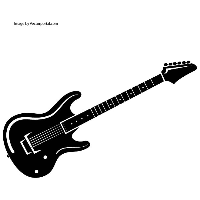 Guitar  black and white guitar clipart clipartbold