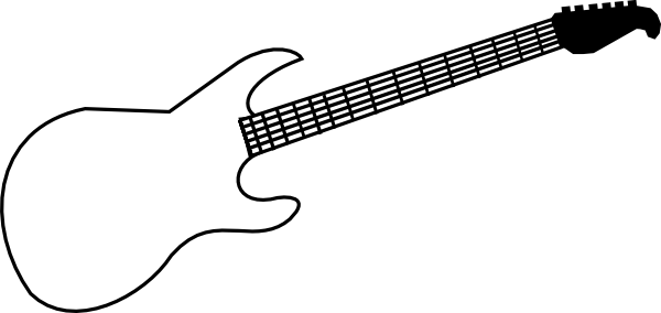 Guitar  black and white guitar stencil black and white clipart