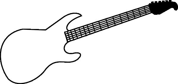 Guitar  black and white guitar stencil black and white clipart