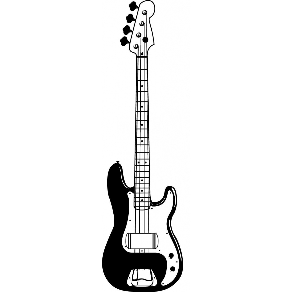 Guitar  black and white picture of an electric guitar free download clip art