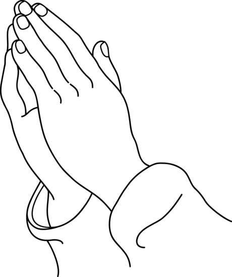 Hand  black and white black and white praying hands clipart clipartfest 2