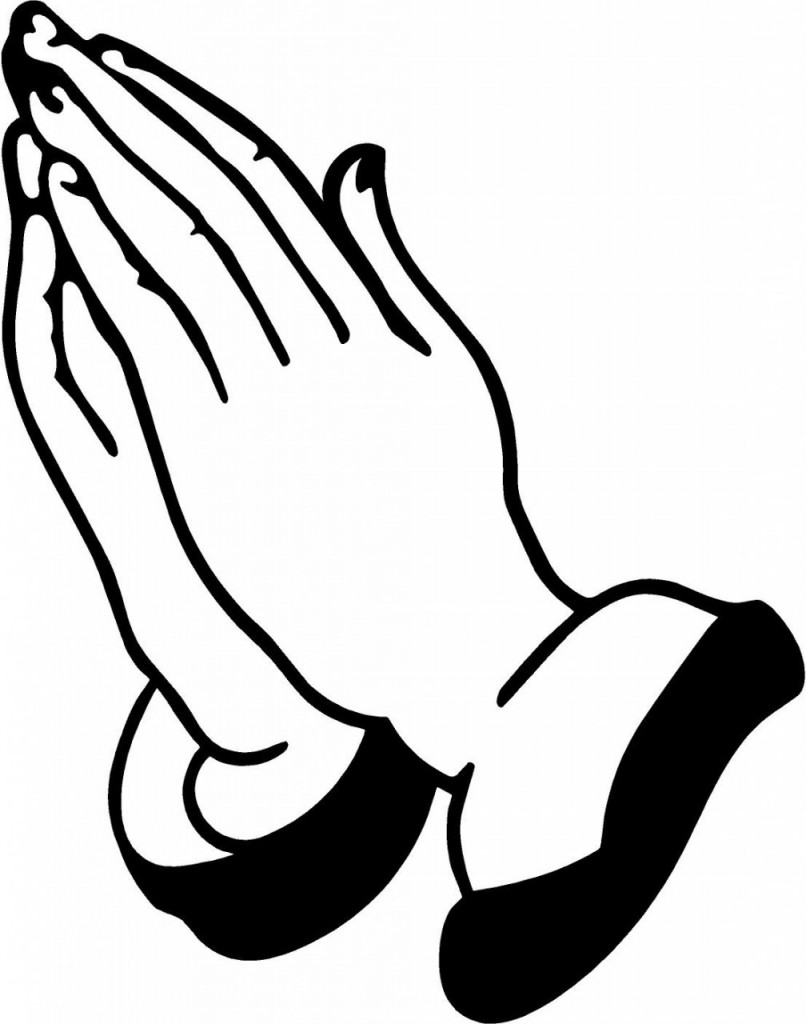 Hand  black and white black and white praying hands clipart clipartfest