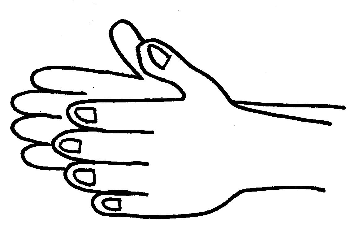 Hand  black and white clap clipart black and white clipartfest