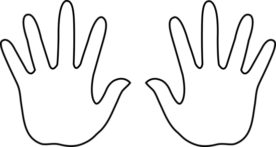 Hand  black and white hand black and white clipart