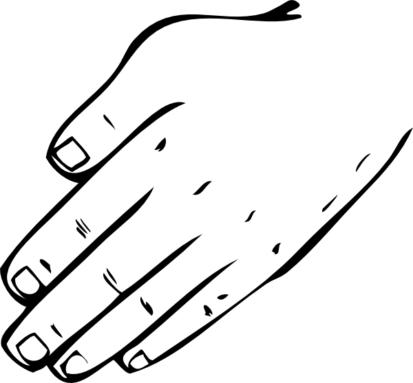 Hand  black and white hand clipart