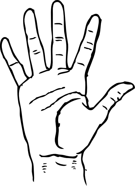 Hand  black and white hands clipart black and white free images 3 2