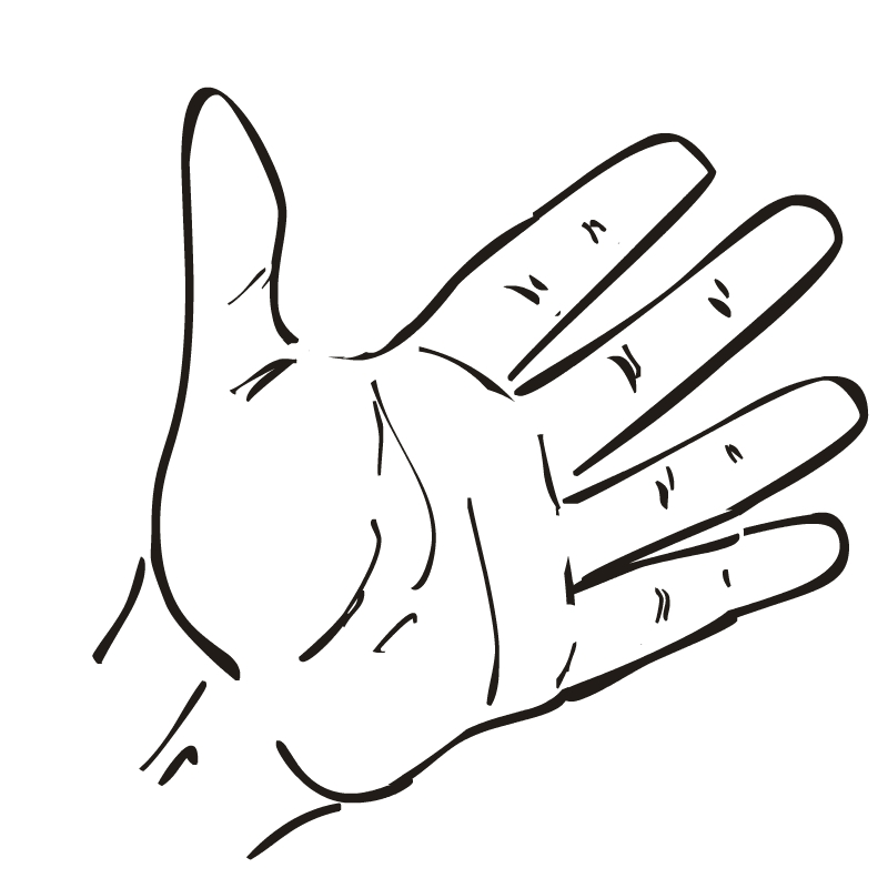 Hand  black and white hands clipart black and white free images 4