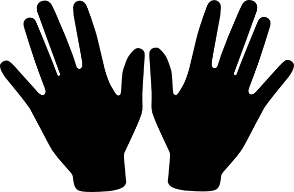 Hand  black and white hands clipart black and white free images 5