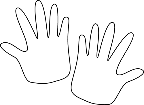 Hand  black and white hands clipart black and white free images 9