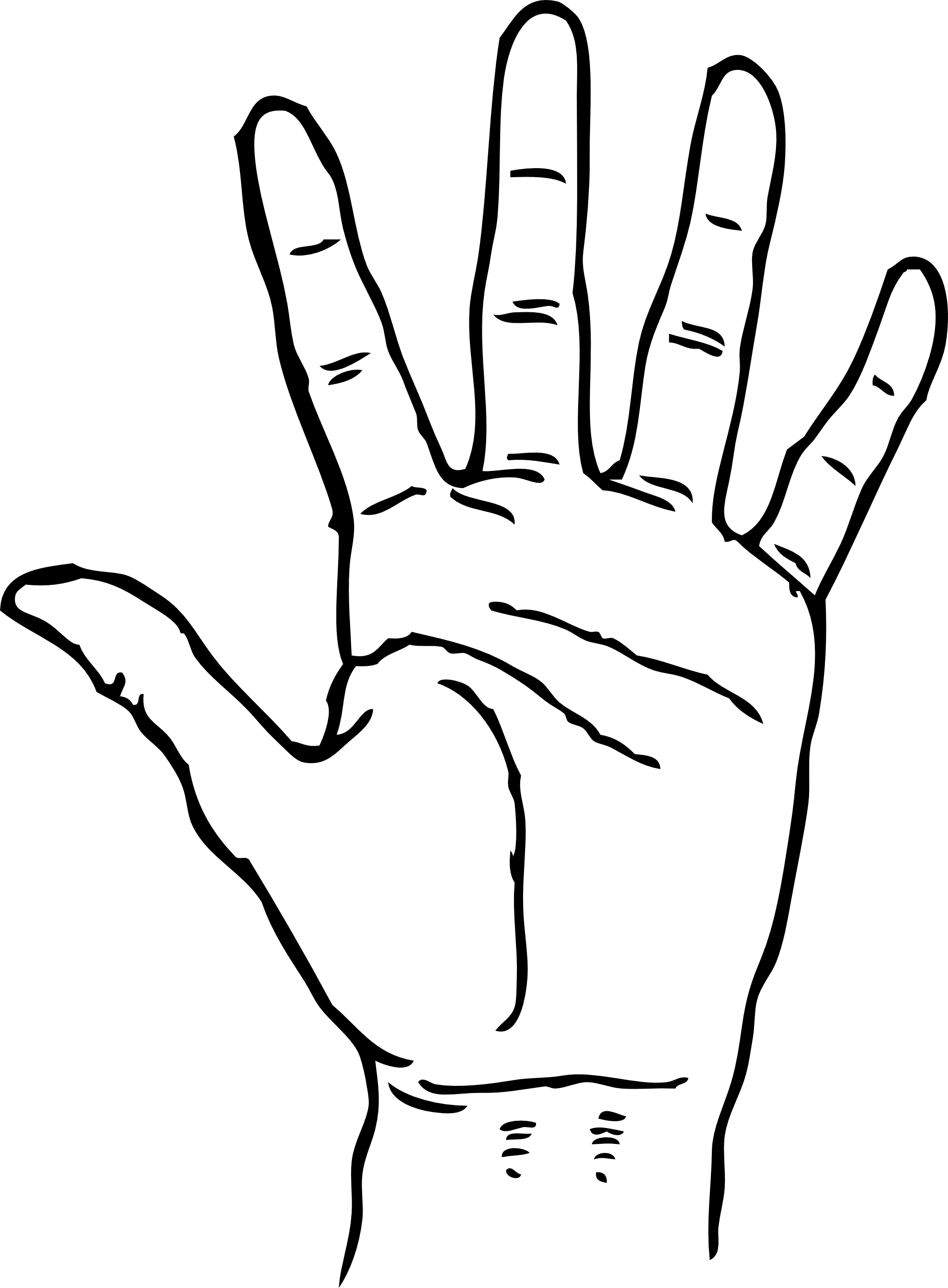 Hand  black and white hands clipart black and white free images