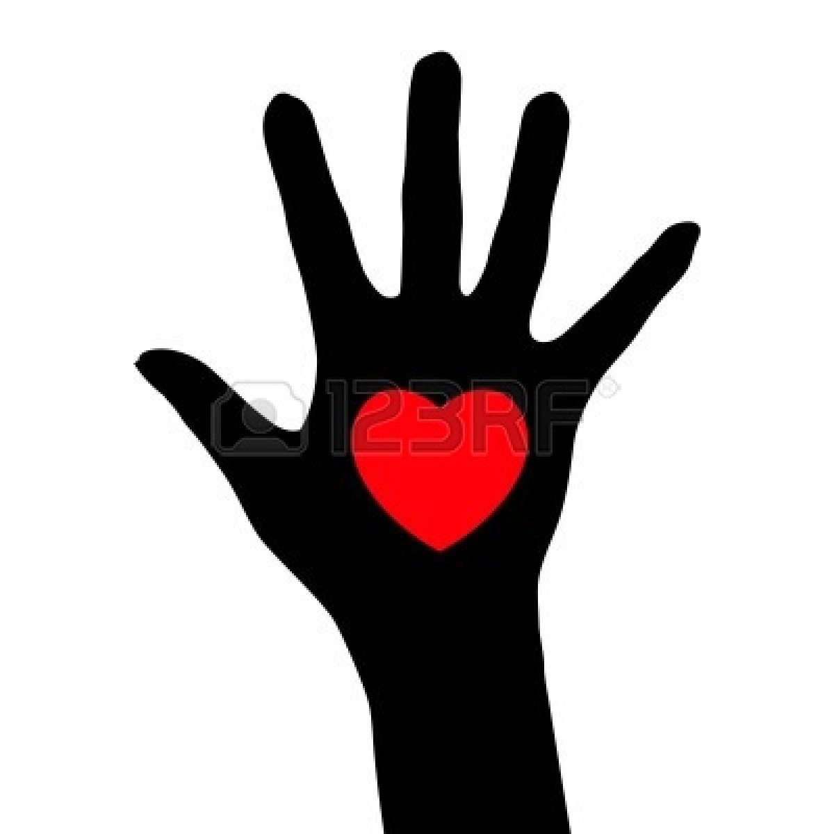 Hand  black and white helping hand clipart black and white free