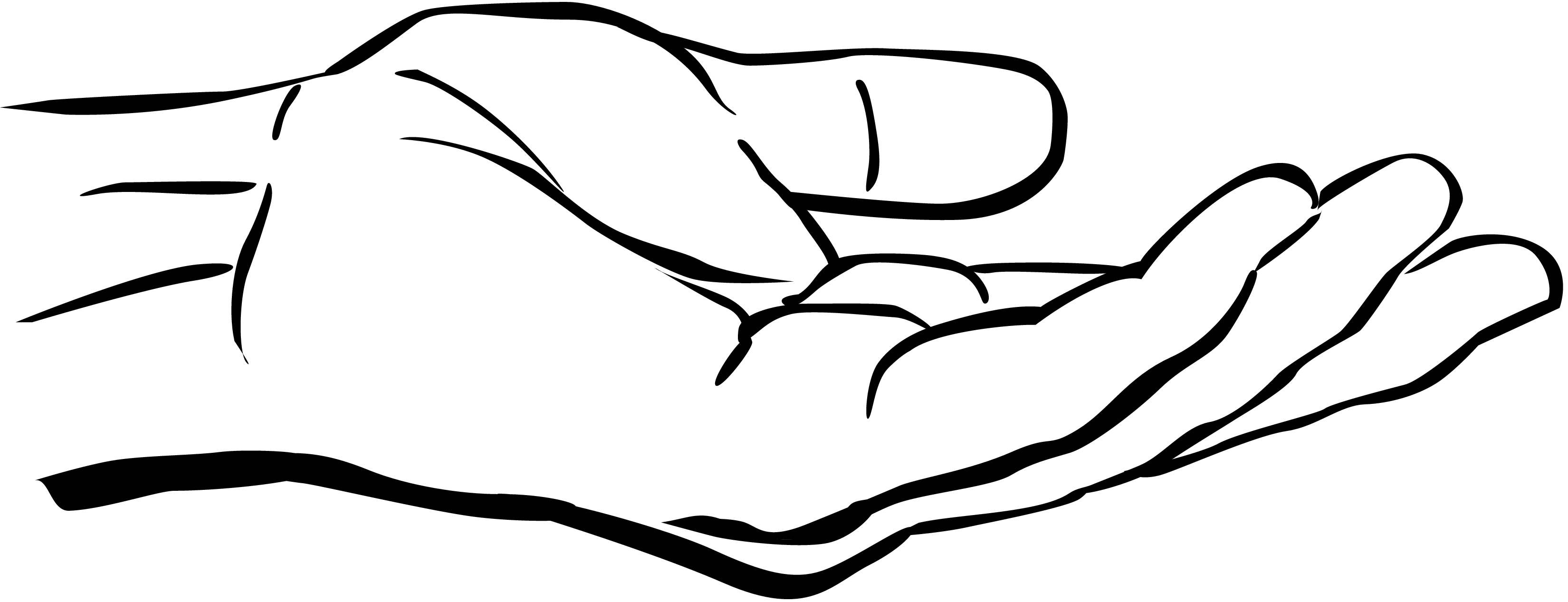 Hand  black and white helping hands clipart black and white clipartfox