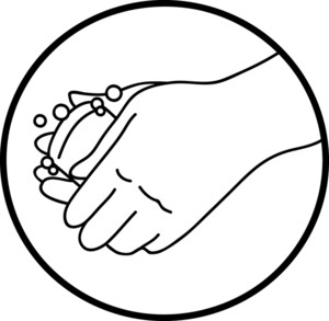 Hand  black and white kids hand clipart black and white free
