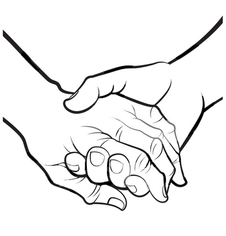 Hand  black and white open hands black and white clipart 2