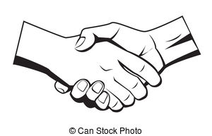 Hand  black and white shaking hands clipart black and white clipartfest 2