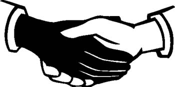 Hand  black and white shaking hands clipart black and white clipartfest 4