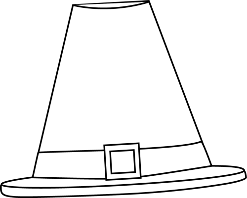 Hat  black and white black and white pilgrim hat clip art