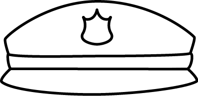 Hat  black and white black and white police hat clip art image