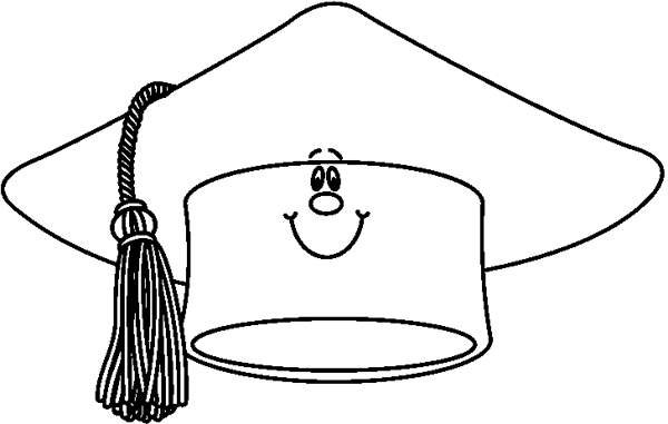 Hat  black and white graduation hat clipart black and white clipartfest